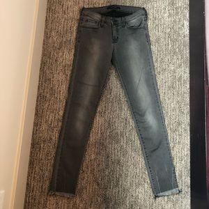 Flying Monkey Black Washed Frayed Skinny Jeans